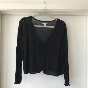 Amuse Society lace up sweater